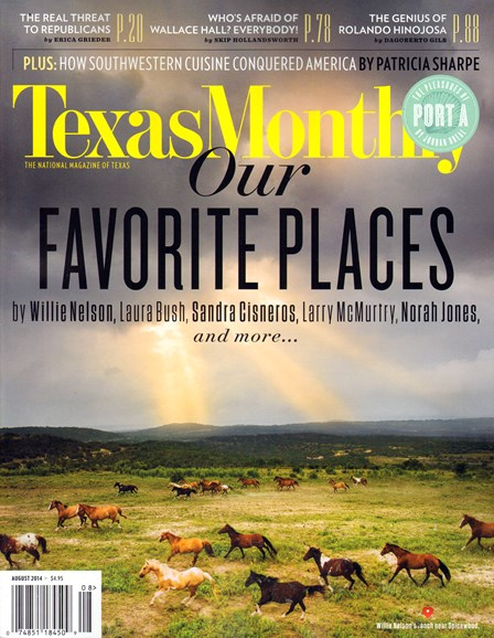 Texas Monthly Cover - 8/1/2014