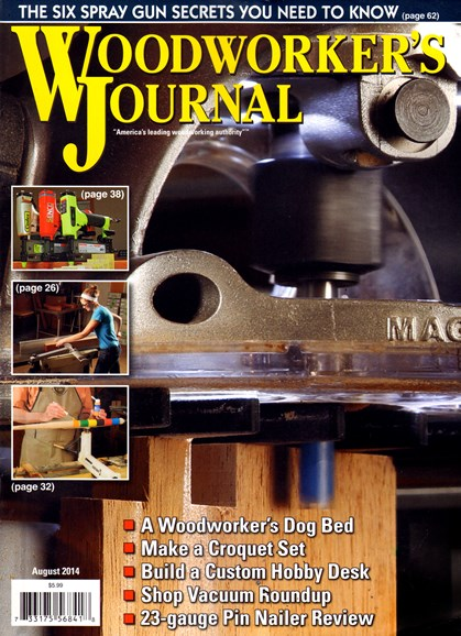 Woodworker's Journal Cover - 8/1/2014