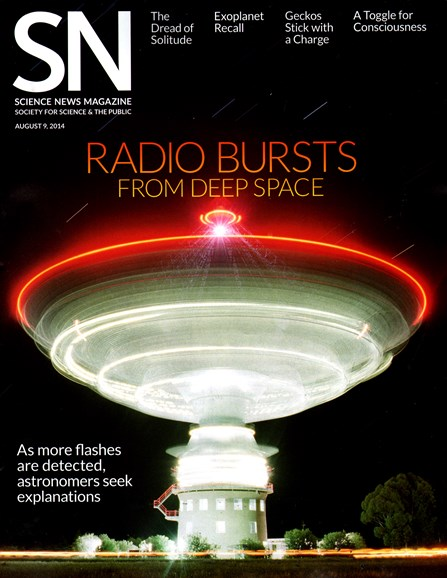 Science News Cover - 8/9/2014