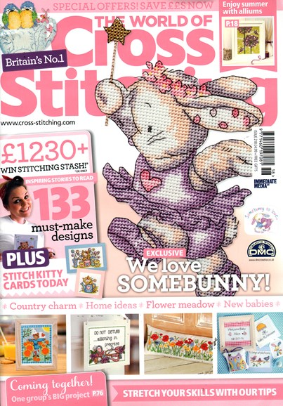 The World of Cross Stitching Cover - 8/1/2014