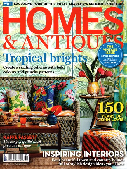 Homes & Antiques Cover - 8/1/2014