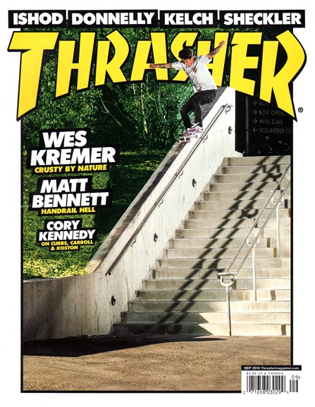 Thrasher Cover - 9/1/2014