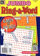 Jumbo Ring a Word Magazine 11/1/2014
