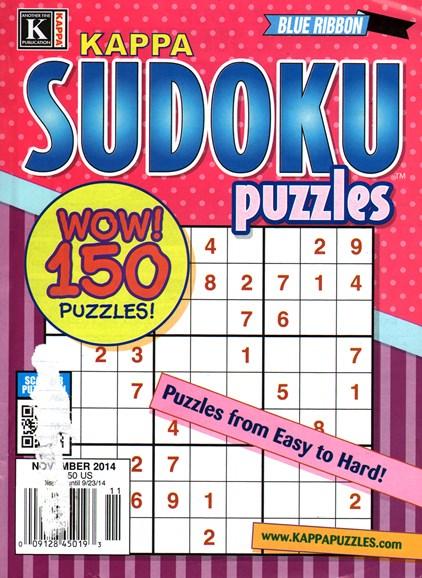 Blue Ribbon Kappa Sudoku Puzzles Cover - 11/1/2014