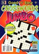 Good N Easy Crosswords Jumbo Magazine 8/1/2014