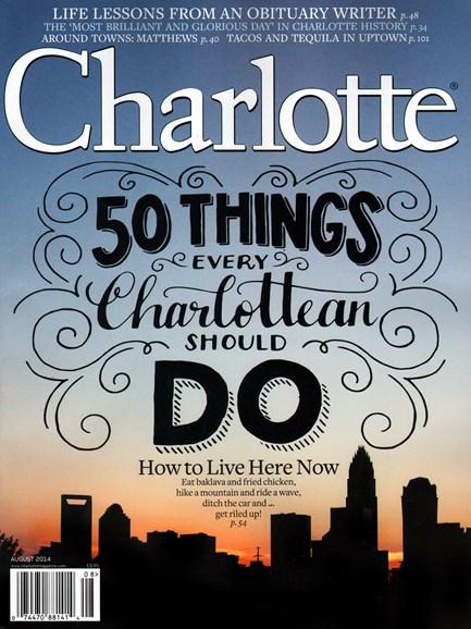 Charlotte Magazine Cover - 8/1/2014