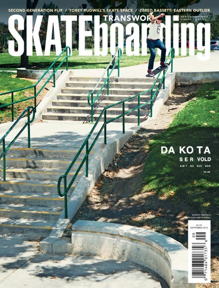 Transworld SKATEboarding Cover - 9/1/2014