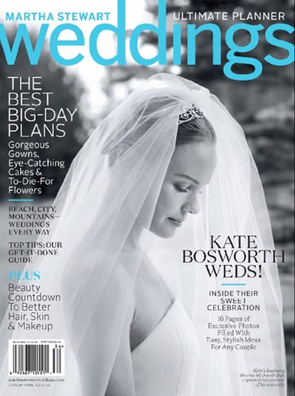Martha Stewart Weddings Cover - 12/1/2013