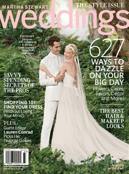 Martha Stewart Weddings Cover - 9/1/2013