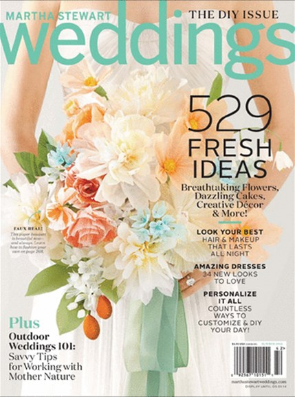 Martha Stewart Weddings Cover - 6/1/2014