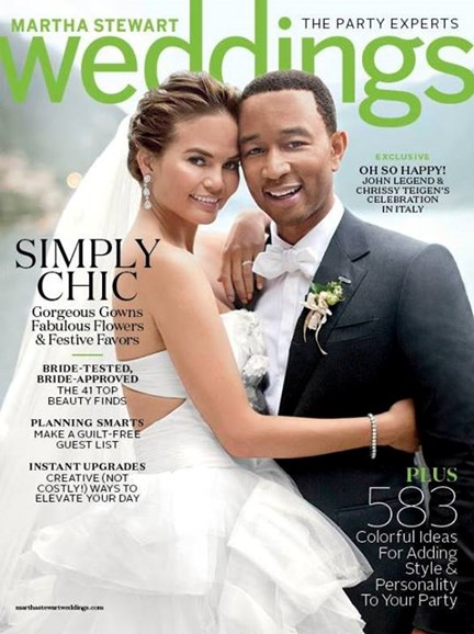 Martha Stewart Weddings Cover - 3/1/2014