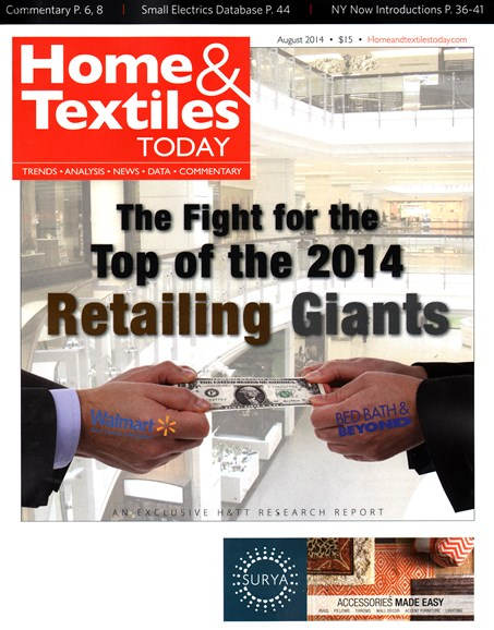 Home & Textiles Today Cover - 8/1/2014