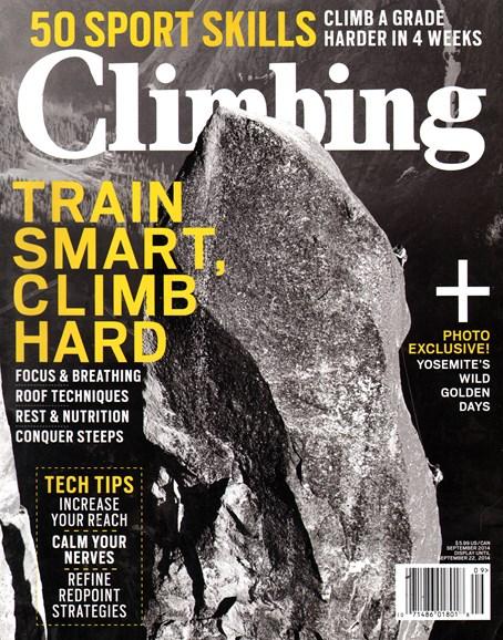 Climbing Magazine Cover - 9/1/2014