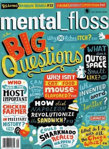 Mental Floss Cover - 9/1/2014
