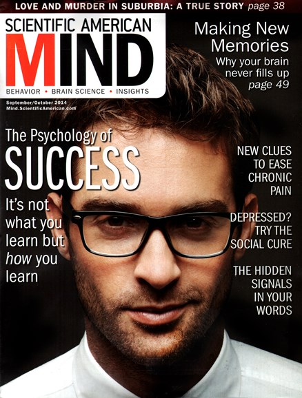 Scientific American Mind Cover - 9/1/2014