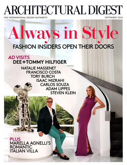 Architectural Digest Cover - 9/1/2014