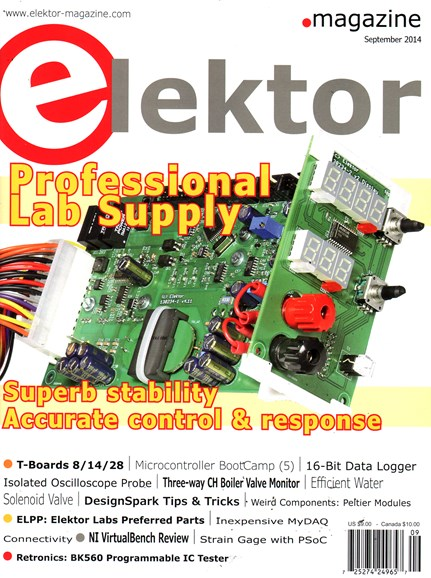 Elektor - North American Edition Cover - 9/1/2014