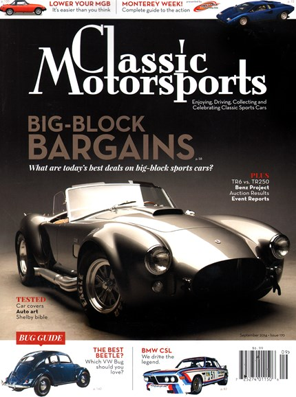 Classic Motorsports Cover - 9/1/2014