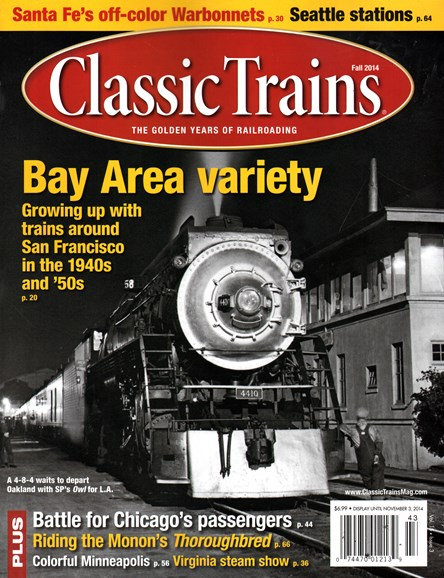 Classic Trains Cover - 9/1/2014