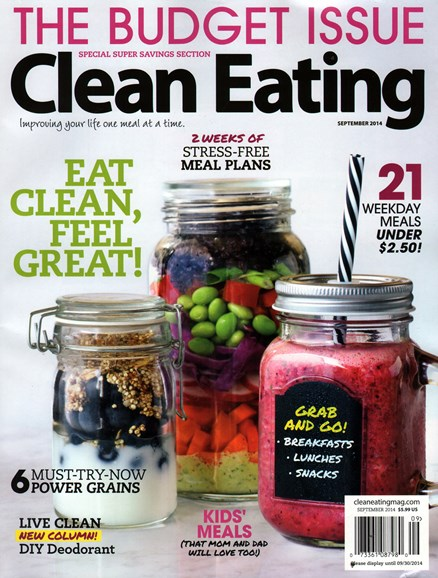 Clean Eating Cover - 9/1/2014