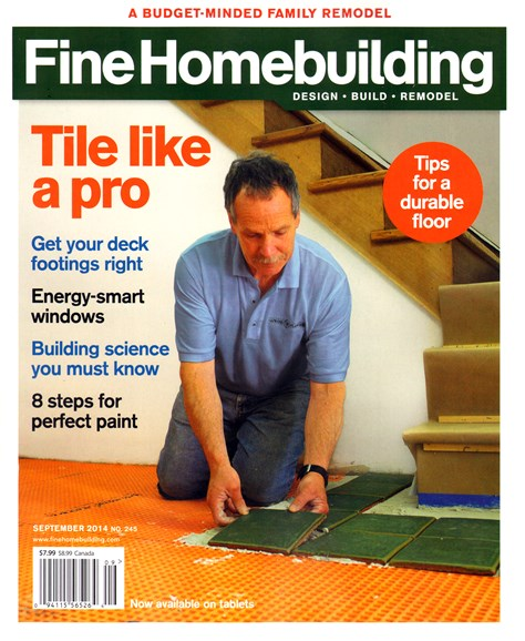 Fine Homebuilding Cover - 9/1/2014