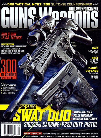 Guns & Weapons For Law Enforcement Cover - 9/1/2014