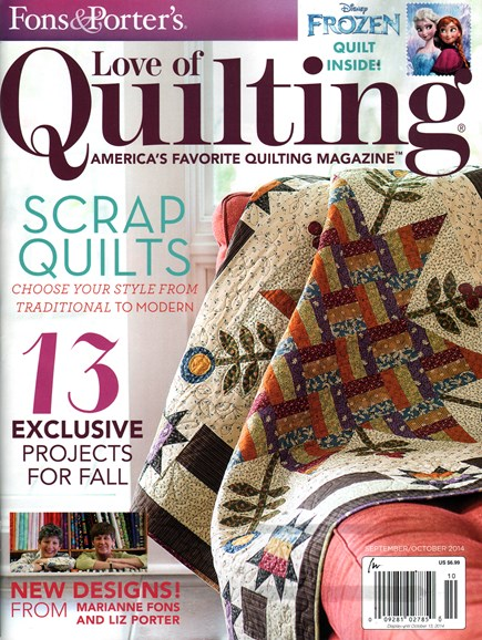 Fons & Porter's Love of Quilting Cover - 9/1/2014