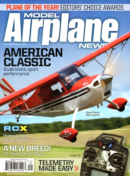 Model Airplane News Cover - 9/1/2014