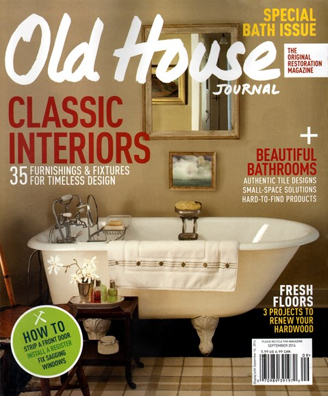 Old House Journal Cover - 9/1/2014