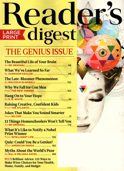 Reader's Digest - Large Print Edition Cover - 9/1/2014