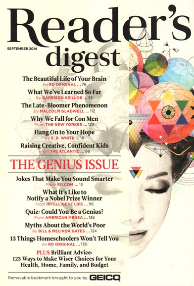 Reader's Digest Cover - 9/1/2014