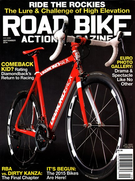 Road Bike Action Cover - 9/1/2014