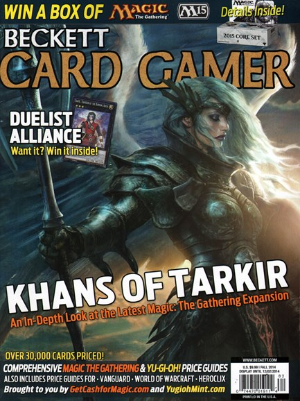 Beckett Card Gamer Cover - 9/1/2014