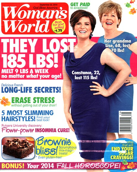 Woman's World Cover - 9/22/2014