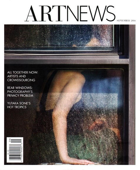 ARTnews Cover - 9/1/2014
