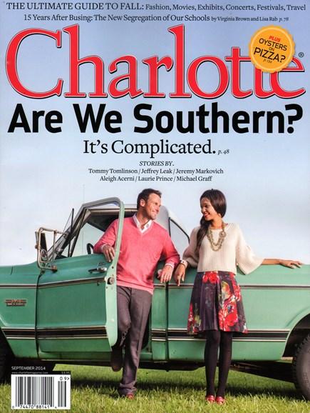 Charlotte Magazine Cover - 9/1/2014