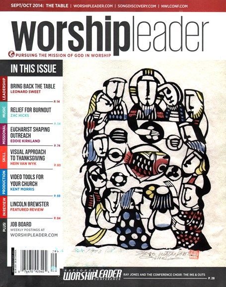 Worship Leader Magazine Cover - 9/1/2014