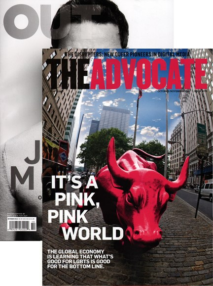 Out & The Advocate Edition Cover - 10/1/2014