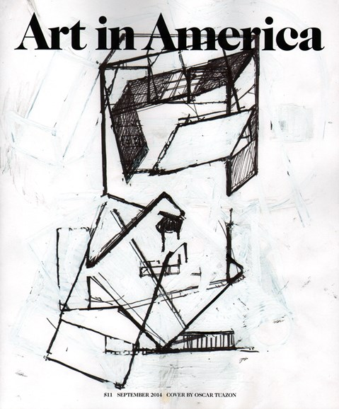 Art In America Cover - 9/1/2014