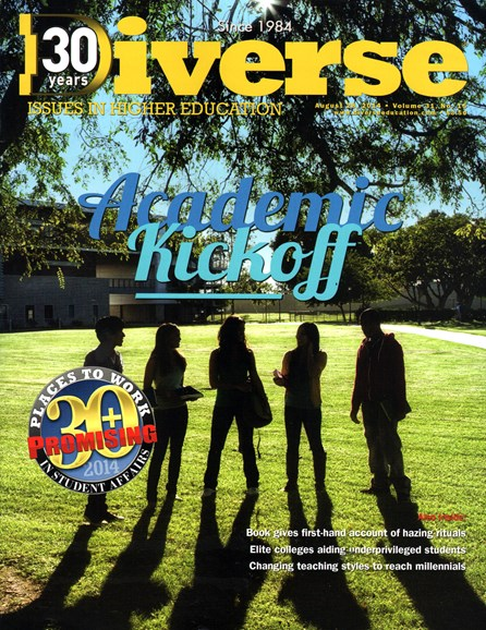 Diverse: Issues In Higher Education Cover - 8/28/2014