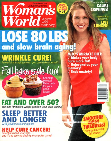 Woman's World Cover - 9/29/2014