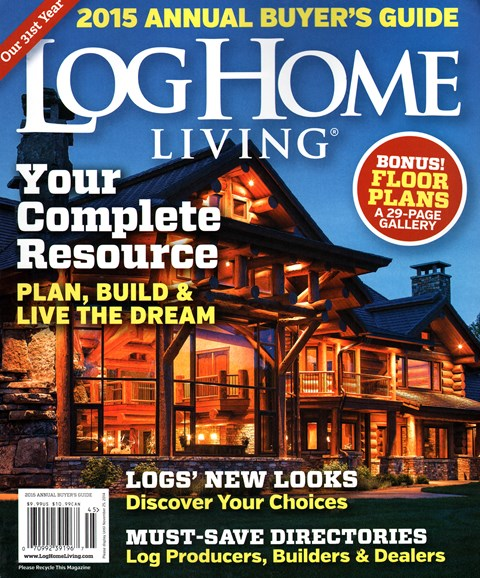 Log and Timber Home Living Cover - 9/1/2014