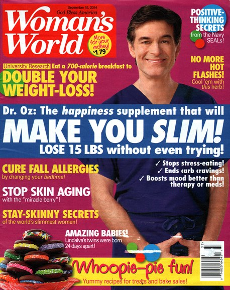 Woman's World Cover - 9/18/2014