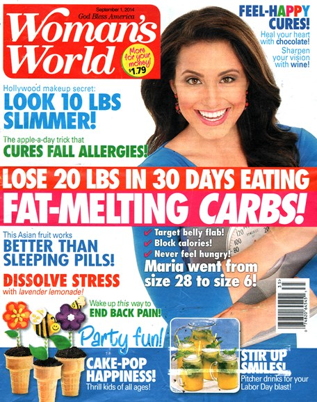 Woman's World Cover - 9/1/2014