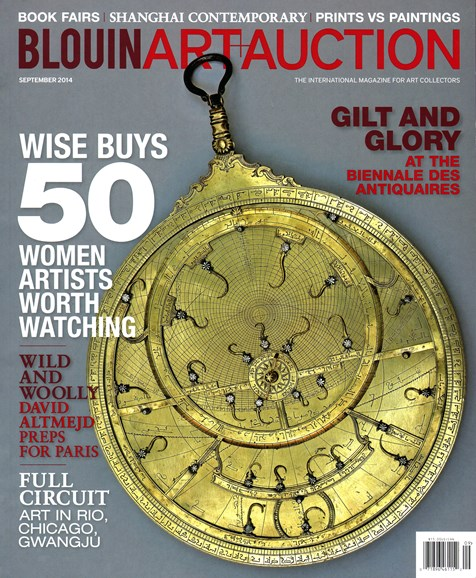 Blouin Art & Auction Cover - 9/1/2014