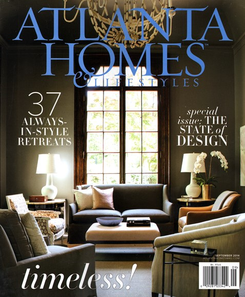 Atlanta Homes & Lifestyles Cover - 9/1/2014
