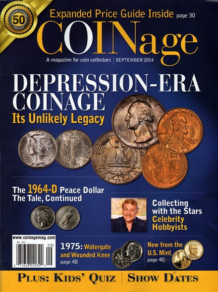 Coinage Cover - 9/1/2014