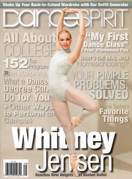 Dance Spirit Cover - 9/1/2014