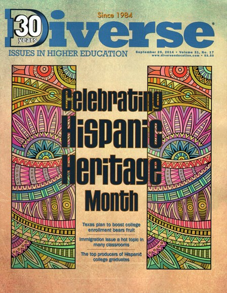 Diverse: Issues In Higher Education Cover - 9/25/2014