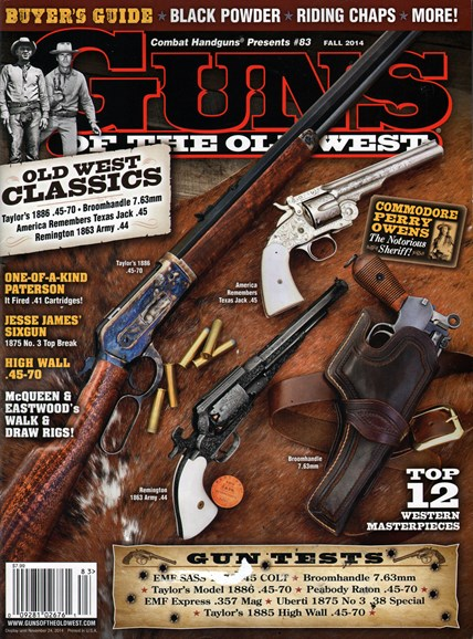 Guns Of The Old West Cover - 9/1/2014